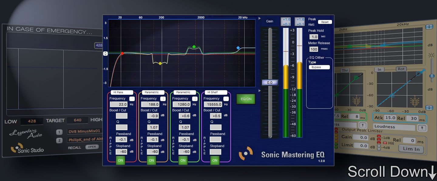 Sonic Studio Pro <strong>Mastering EQ</strong>